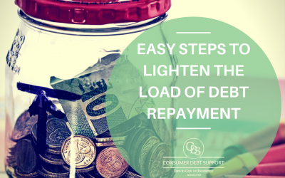 Easy steps to lighten the load of Debt Repayment
