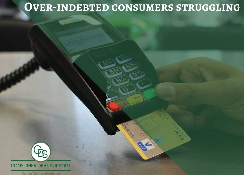 Over-indebted consumers struggling to get rid of debt.